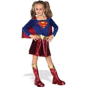 - 41MZHFhwjxL - Girls Superhero Costumes – Gold Belt Supergirl Costume