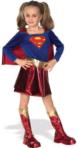 - 41MZHFhwjxL - Girls Superhero Costumes – Gold Belt Supergirl Costume
