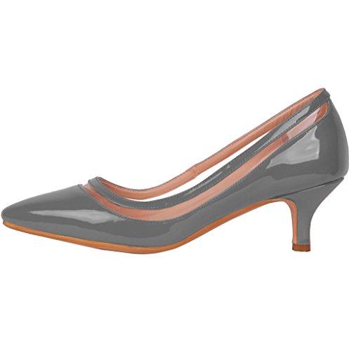 Chaussures Experience Femme 5cm Aiguille Sur Calaier 5 Escarpins Glisser Gris 7PBx8cqp