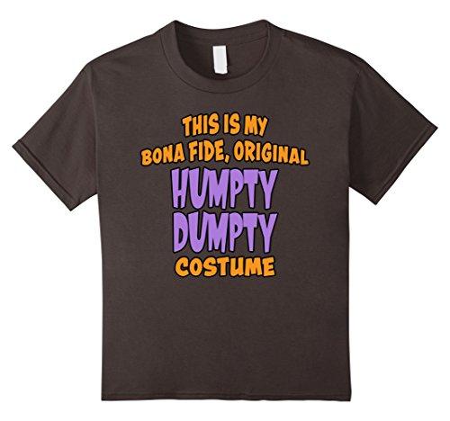 Kids Bona Fide Original Humpty Dumpty Costume Last Minute Shirt 10 Asphalt