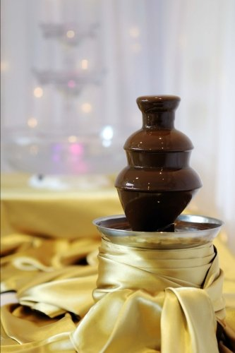 Delicious Chocolate Fondue Fountain on a Table Journal: 150 page lined notebook/diary by Cool Image