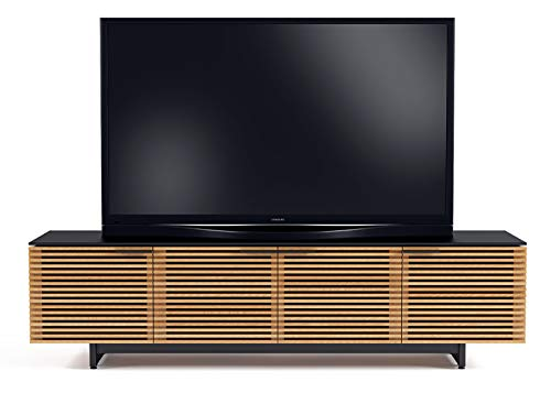 BDI 8173 WOK Corridor Low TV Stand Media Cabinet, White Oak