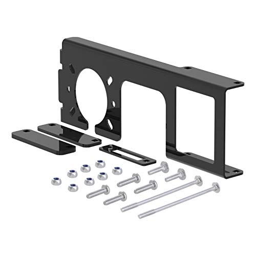 CURT 58000 Easy-Mount Vehicle Trailer Wiring Harness Connector Mounting Bracket for 4-Way or 5-Way Flat and 6-Way or 7-Way Round, Fits 2-Inch (Wiring Harness Bracket)