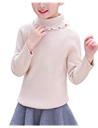 WDREAM Turtleneck Sweater Girls Warm Knit Sweater Christmas Jumper Pullover