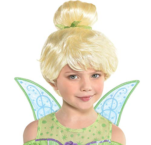 Suit Yourself Peter Pan Tinker Bell Wig for Children, One Size, 11 Inches Long, Features Bangs and a Green Ribbon -