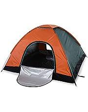 Sliverdew Barraca de acampamento, 4 pessoas, porta dupla, leve, abertura automática, barraca impermeável, pop-up instantâneo, barraca dobrável para piquenique, praia, pesca, cama, caça