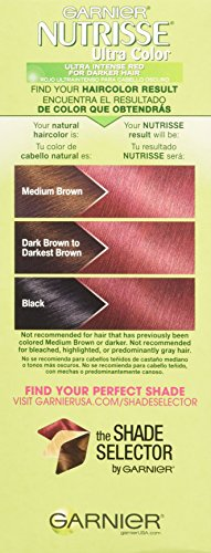 Garnier Nutrisse Ultra Color Nourishing Hair Color Creme, Light Intense Auburn, 3 Count  (Packaging May Vary) by Garnier (Image #4)