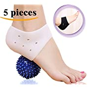 Amazon Lightning Deal 90% claimed: DR JK- Comprehensive Plantar Fasciitis PedPal Kit-5 pieces Plantar Fasciitis Sleeve, Massage Ball, Foot Arch Support, Foot massager, Heel Pads, Ankle Brace, Relieve Foot Pain and Metatarsal Pain