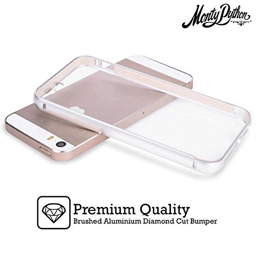 Officiel Monty Python Si Mais Une Rayure Art Clé Argent Étui Coque Aluminium Bumper Slider pour Apple iPhone 5 / 5s / SE