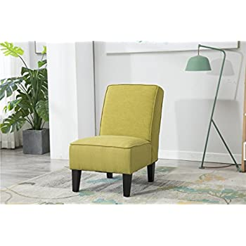 Amazon Com Armless Accent Chair Modern Living Room Chairs