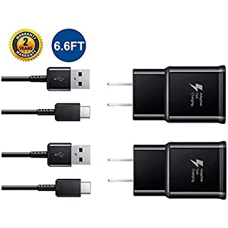Samsung Fast Wall Charger,LaoFas Adaptive Fast Charging Adapter with 6.6 Feet Type C Cable Compatible with Samsung Galaxy S10/ S10e/ S9/ S9+/ S8/ S8 Plus/Active/Note 9/ Note 8 and More