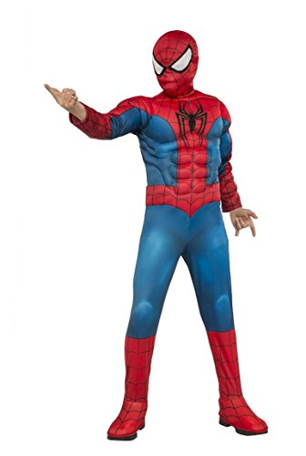 [Rubie's Marvel Ultimate Spider-Man Deluxe Muscle Chest Costume] (Muscle Chest Spiderman Costumes)