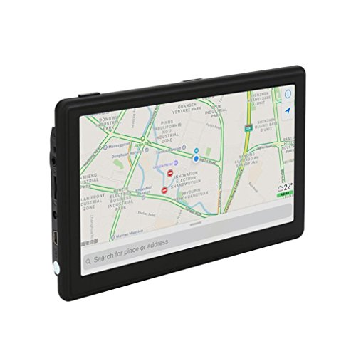 Leewa 7inch Car Navigation GPS 128MB RAM – 8GB Bluetooth Navigator Video Photo E-Book (Black)
