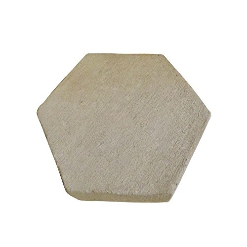 NEW Set Of 3 Hexagon Patio Stepping Stone 8'' 12'' 16'' Inch CONCRETE CEMENT MOLD Walk/Pathway Maker Paver ALL METAL MADE IN USA DYI by EZ Block Mold Company USA (Image #2)