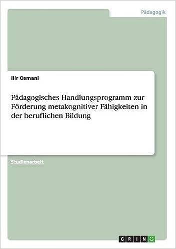 Book Pädagogisches Handlungsprogramm zur Förderung metakognitiver Fähigkeiten in der beruflichen Bildung
