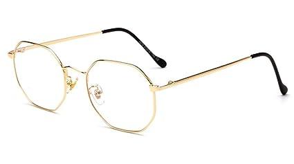 DAUCO klassische Brille Metallgestell Brillenfassung Aviator Vintage Brille Dekobrillen Klare Linse Bi5qL5xJKh