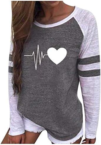 SALIFUN Womens Long Sleeve Shirts Pullover Plaid Striped Color Block Raglan T Shirt Blouses Loose Fit Tunic Tops Sweater