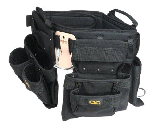 CLC Custom Leathercraft 5605 Professional Carpenters Combo Tool Belt, Black, 18 Pocket (Color: Black, Tamaño: 29 to 46 Waist)