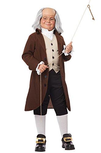 California Costumes Colonial Man/Benjamin Franklin Child Costume, (Good Men Costumes)