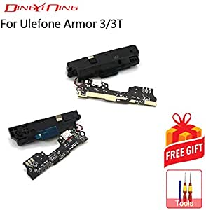 100% for Ulefone Armor 3/3T USB Board Charging Port Board Loud Speaker Buzzer Speaker Box Repair Replacement Parts (Charge Board-Mic-Spk)