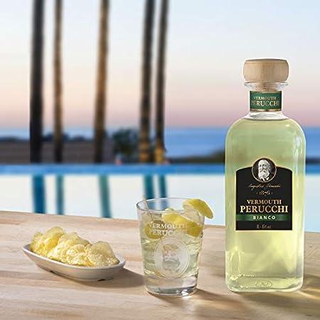 Vermouth Perucchi Bianco – Vermouth Blanco Dulce – Botella de 1 Lt – Elaborado en España – 15% Alcohol – Crianza: 3 Años – Selección vins&co barcelona – 1000 ml