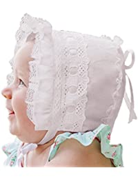 Ribbon and Lace Baby & Toddler Bonnet In 2 Color Choices