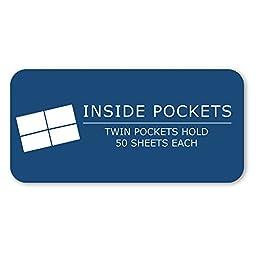 Roaring Spring Embossed 2-Pocket Folders with Prongs. 25/box. Orange only