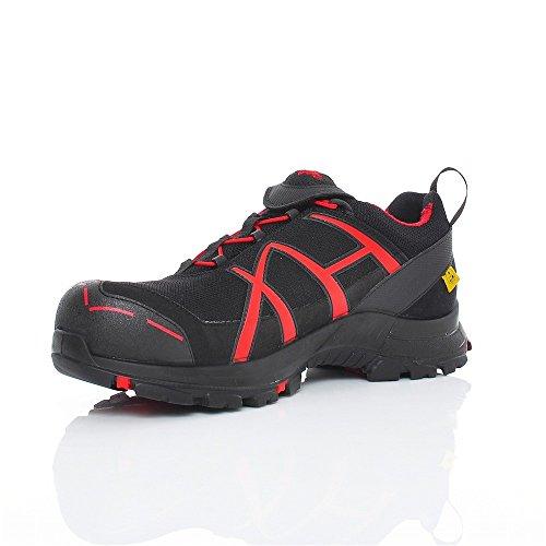 Haix Black Eagle Safety 40 Low Black/Red Moderne-Sportif, Design Combiné avec la Technologie de Sécurité innovante