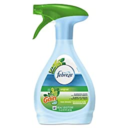 Febreze 47804 Fabric Refresher and Odor Eliminator, Gain Original, 27 oz. Spray Bottle (Pack of 6)
