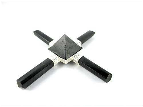 Jet Black Tourmaline 4 Point Pyramid Generator