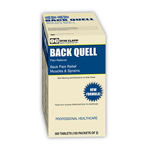 Otis Clapp 1615587 Back-Quell Back Pain Relief Tablets, Blue/Yellow Box (Pack of 300)