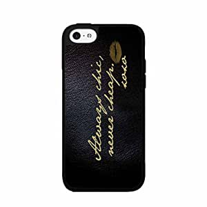 Always Chic but Never Cheap 2-Piece Dual Layer Phone Case Back Cover iPhone 5 5s