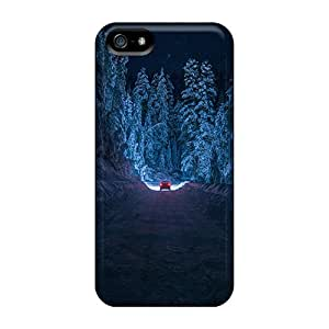 Hot NJQQttI6051MEsSx Case Cover Protector For Iphone 5/5s- Enchanting Winter Drive