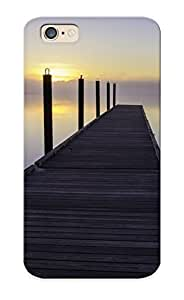 Trolleyscribe High Grade Flexible Tpu Case For Iphone 6 - Dock Over The Machias River, Maine ( Best Gift Choice For Thanksgiving Day)