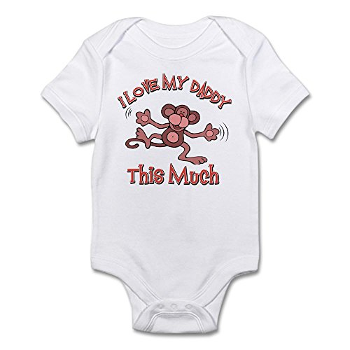 CafePress I Daddy Cute Infant Bodysuit Romper