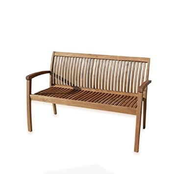 Panca in legno arredo da giardino design moderno 2 posti: Amazon ...