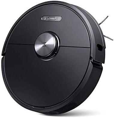 roborock S6 Robot Aspirateur Sweep-Mop 5200Am 2000Pa, Anti-Chute, APP, Brosse Principale Amovible et Lavable, Support Mur virtuel (Noir) - Home Robots