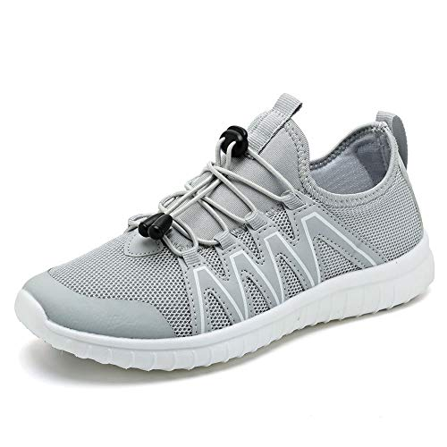 FCKEE Water Shoes for Women's Quick Drying Sports Aqua Shoes Outdoor Sneakers,USFSX03,B.Grey-37