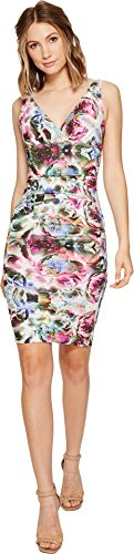 Nicole Miller Women's Krista Mirrored Blossom Dress, Multi/Multi, 2 (Womens Nicole Metal Miller)