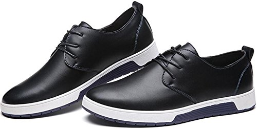 Ppxid Hommes Style Britannique En Cuir Lace Up Business / Casual Chaussures Noir
