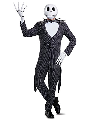 Jack Skellington Female Costume (Disguise Men's Plus Size Jack Skellington Prestige Adult Costume, Multi,)