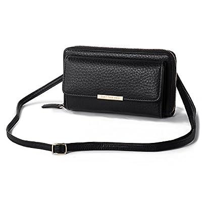 Crossbody Wallet Women Cellphone Purse PU Leather Clutch Handbag with Flap Pocket + Katloo Nail Clipper