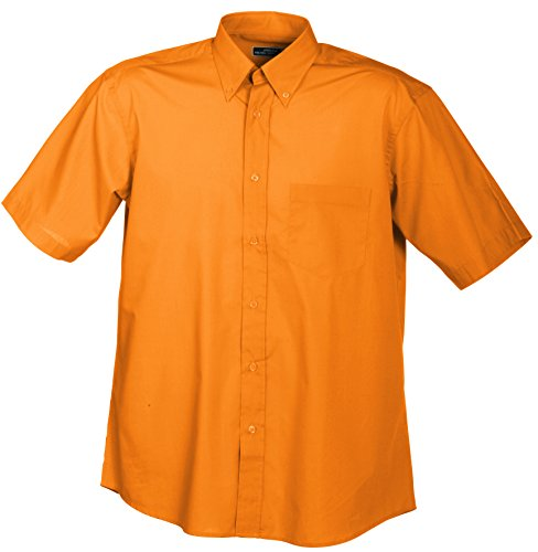 Homme Nicholson Orange Orange amp; T Men's James Short Sport orange sleeved Shirt p85A1qw