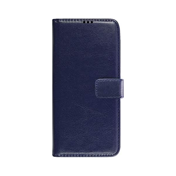 Amazon Brand - Solimo Flip Leather Mobile Cover (Soft & Flexible Back case) for Samsung Galaxy M12 (Blue) 2021 July Snug fit for Samsung Galaxy M12, with perfect cut-outs for volume buttons, audio and charging ports Compatible with Samsung Galaxy M12 Durable design combining smooth outer PU Leather finish with soft TPU inner case, Protects phone from scratches, falls, fingerprints and sweat