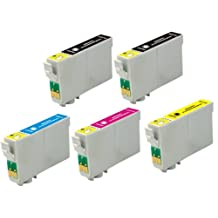 Virtual Outlet ® 5 Pack Remanufactured Inkjet Cartridges for Epson #200 #200XL T200 T200XL, T200XL120 T200XL220 T200XL320 T200XL420 Compatible with Epson WorkForce WF-2520, WorkForce WF-2530, WorkForce WF-2540, Expression XP-200 Small-in-One, Expression XP-300 Small-in-One, Expression XP-400 Small-in-One, Expression XP-410 Small-in-One, Expression XP-310 Small-in-One (2 Black, 1 Cyan, 1 Magenta,