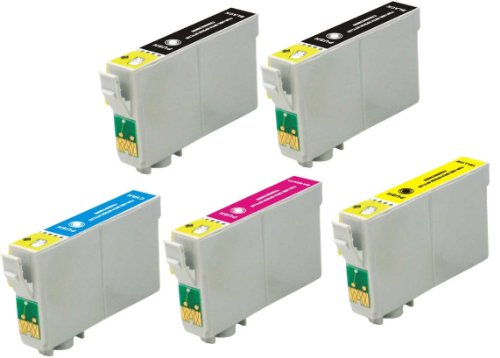 Virtual Outlet 5 Pack Remanufactured Inkjet Cartridges for Epson T069 #69, T069120 T069220 T069320 T069420 Compatible with Epson Stylus CX5000, Stylus CX6000, Stylus CX7000F, Stylus C120, Stylus CX7400, Stylus CX8400, Stylus CX9400Fax, Stylus CX7450, Styl