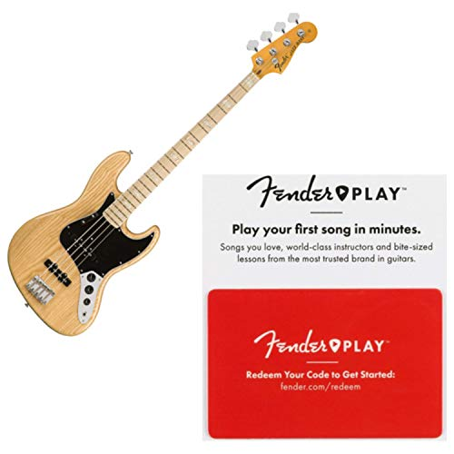 Fender American Original '70s Jazz Bass, Maple Fingerboard, Natural w/Fender P ()
