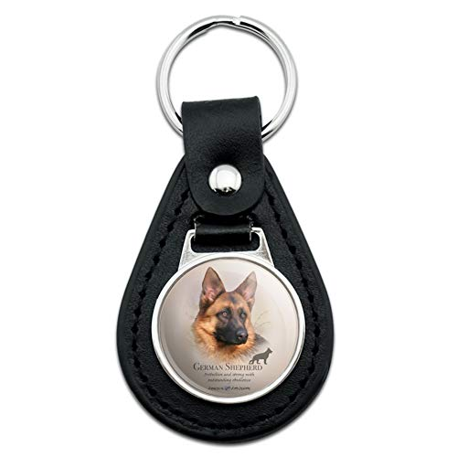 German Shepherd Dog Breed Black Leather ()