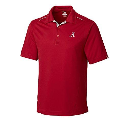 Cutter & Buck NCAA Men's CB Dry Tec Foss Hybrid Polo,Alabama Crimson Tide,Cardinal Red,X-Large