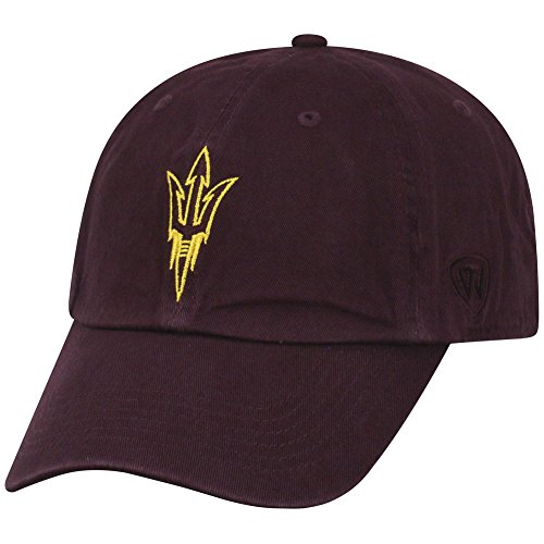 (Top of the World NCAA Arizona State Sun Devils Men's Adjustable Hat Relaxed Fit Team Icon,)